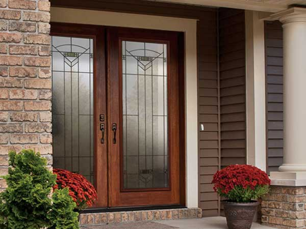 exterior doors glass double